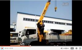 东风天龙12吨4节直臂随车吊