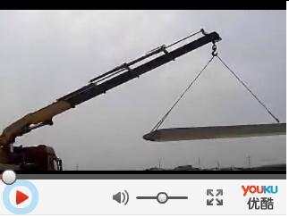 牵引车随车吊工作视频