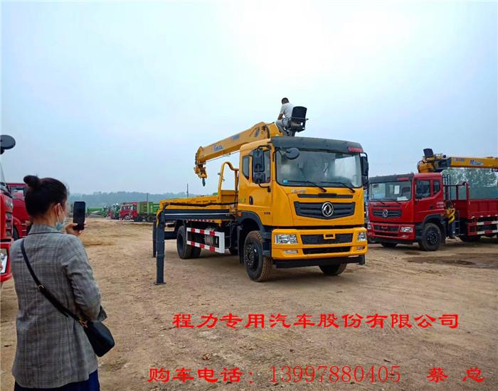 今日新车-国六东风华神单桥10吨随车吊车厢5.8米不超长不超重国六玉柴200
