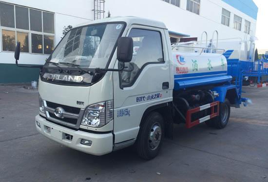 福田时代蓝牌3方绿化喷洒车