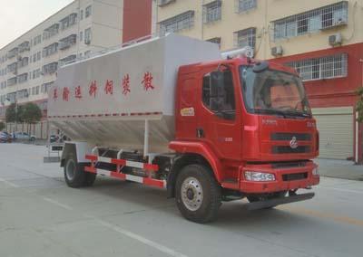 东风柳汽单桥散装饲料运输车