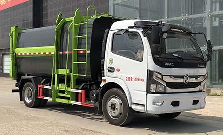 东风多利卡侧装挂桶式垃圾车