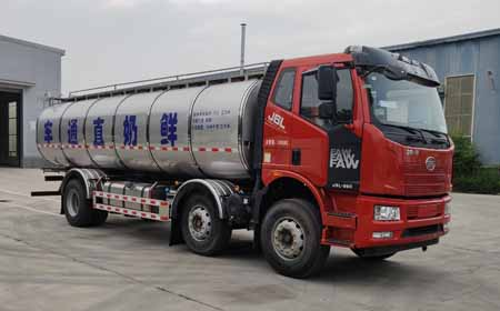 (國六)解放小三軸鮮奶運輸車