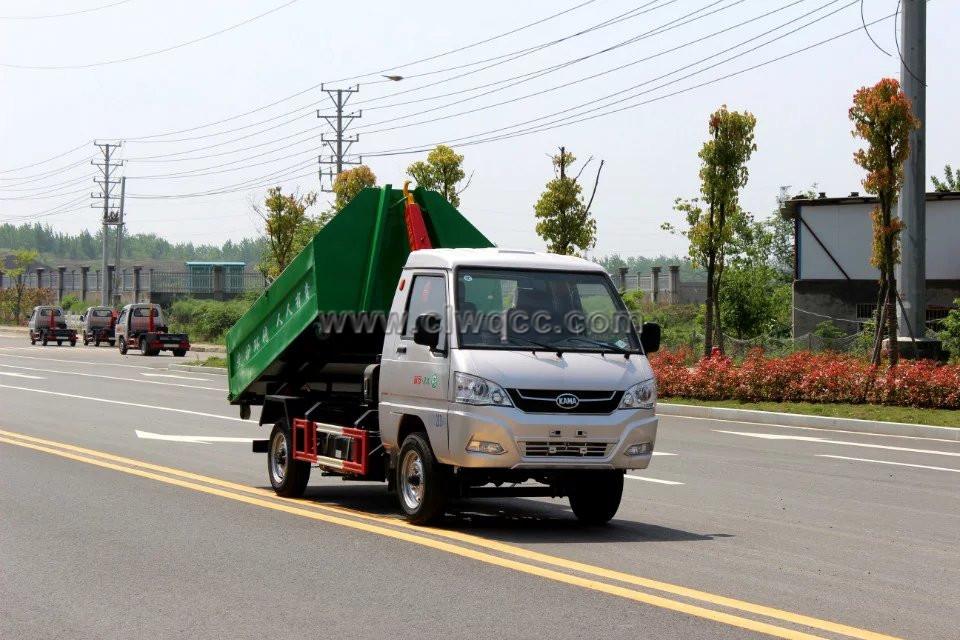 凱馬雙燃料拉臂垃圾車