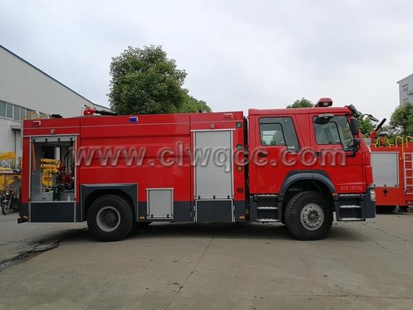 8噸豪沃泡沫消防車