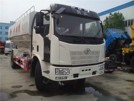 解放6-10噸J6L單橋散裝飼料運輸車