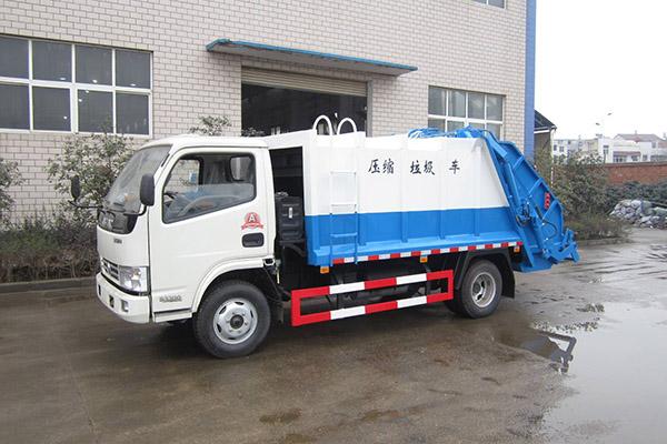 拉臂式垃圾车各个垃圾点放置多个垃圾斗
