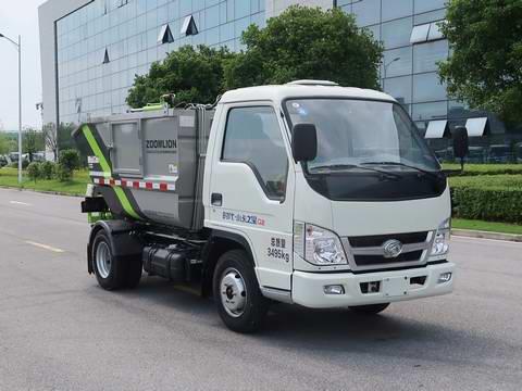 福田汽油小卡后挂桶垃圾车国六价格