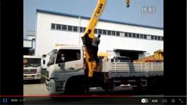 东风天龙12吨4节直臂随车吊视频