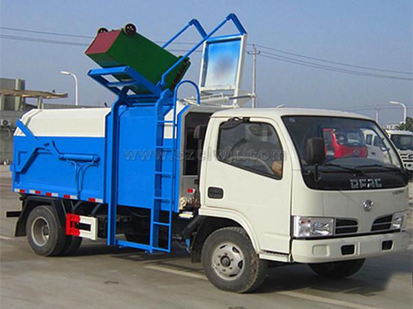 东风压缩式对接垃圾车