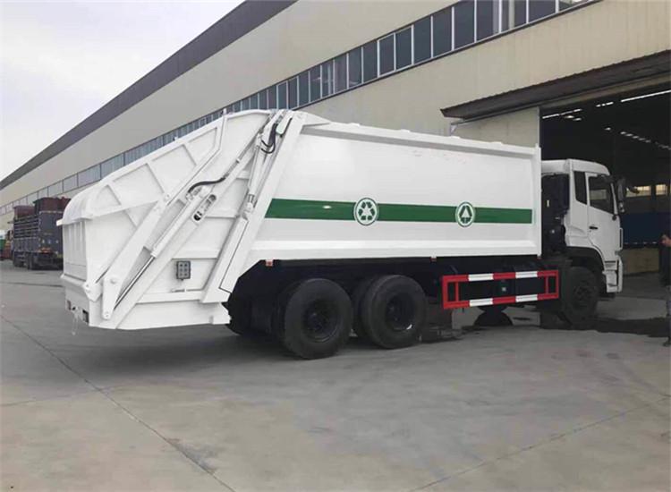 东风天龙18-20方后双桥压缩式垃圾车