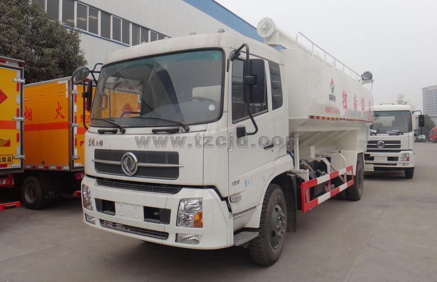 天锦10吨单桥饲料运输车