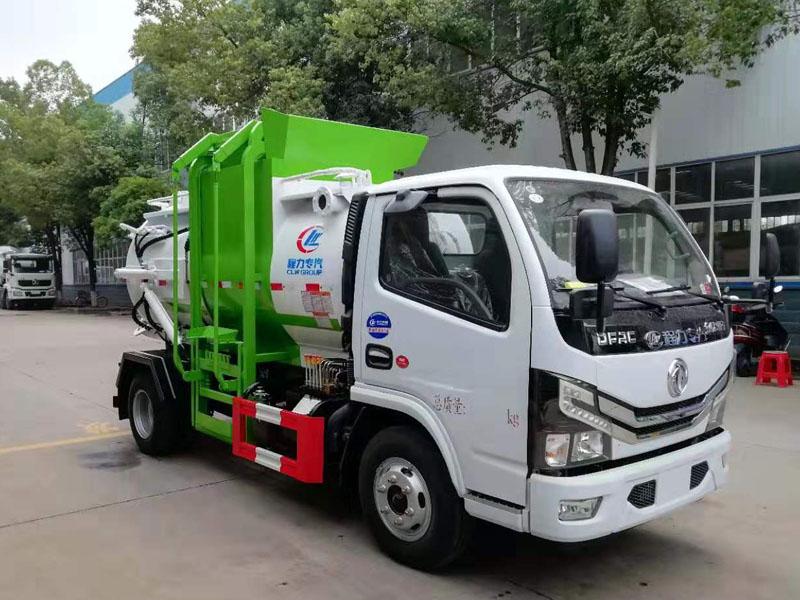 国六东风D6餐厨车(圆罐)