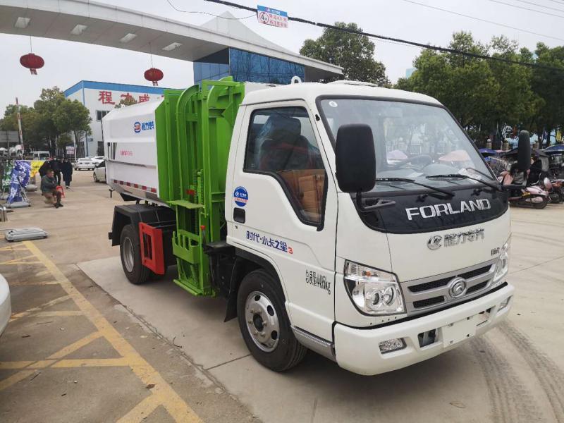 国六福田柴油4方挂桶垃圾车