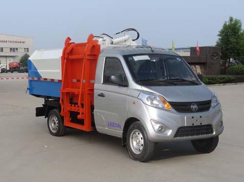 福田伽途3方挂桶垃圾车|汽油机3方挂桶车